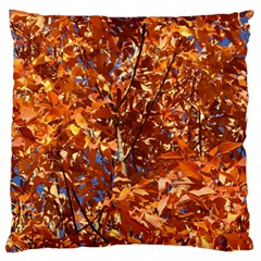 ORANGE LEAVES Standard Flano Cushion Cases (One Side)