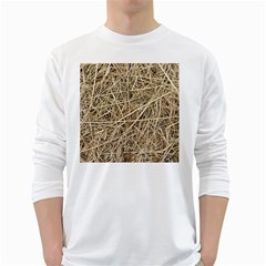 LIGHT COLORED STRAW White Long Sleeve T-Shirts