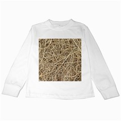 LIGHT COLORED STRAW Kids Long Sleeve T-Shirts