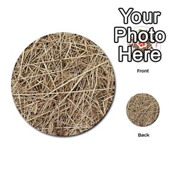 LIGHT COLORED STRAW Multi-purpose Cards (Round)