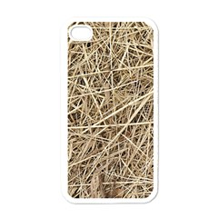 LIGHT COLORED STRAW Apple iPhone 4 Case (White)