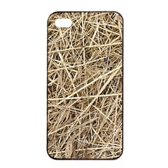 LIGHT COLORED STRAW Apple iPhone 4/4s Seamless Case (Black)