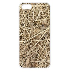 LIGHT COLORED STRAW Apple iPhone 5 Seamless Case (White)