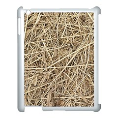 LIGHT COLORED STRAW Apple iPad 3/4 Case (White)