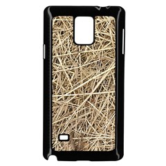 LIGHT COLORED STRAW Samsung Galaxy Note 4 Case (Black)