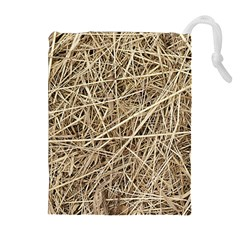 Light Colored Straw Drawstring Pouches (extra Large)