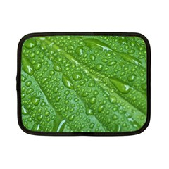 GREEN LEAF DROPS Netbook Case (Small)