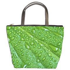 GREEN LEAF DROPS Bucket Bags