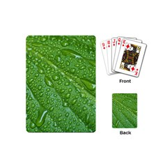 GREEN LEAF DROPS Playing Cards (Mini)