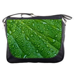 GREEN LEAF DROPS Messenger Bags