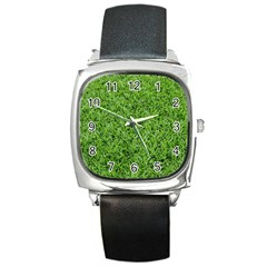 GREEN GRASS 2 Square Metal Watches