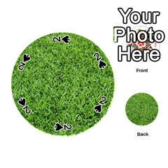 Green Grass 2 Playing Cards 54 (round)