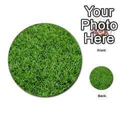 Green Grass 2 Multi Purpose Cards (round)