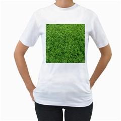 GREEN GRASS 2 Women s T-Shirt (White)