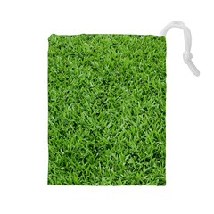 GREEN GRASS 2 Drawstring Pouches (Large)