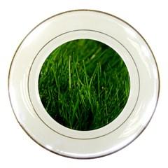 GREEN GRASS 1 Porcelain Plates