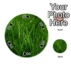 Green Grass 1 Playing Cards 54 (round)
