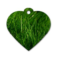 GREEN GRASS 1 Dog Tag Heart (One Side)