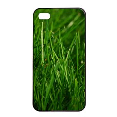 GREEN GRASS 1 Apple iPhone 4/4s Seamless Case (Black)
