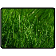 GREEN GRASS 1 Double Sided Fleece Blanket (Large)
