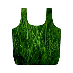 GREEN GRASS 1 Full Print Recycle Bags (M)