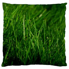 GREEN GRASS 1 Standard Flano Cushion Cases (One Side)