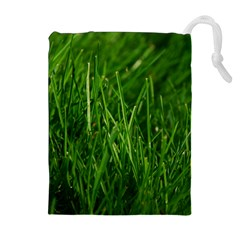 GREEN GRASS 1 Drawstring Pouches (Extra Large)