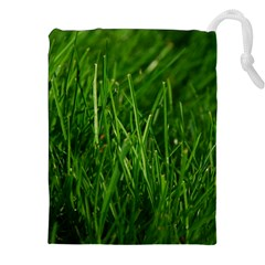GREEN GRASS 1 Drawstring Pouches (XXL)
