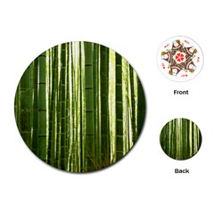 BAMBOO GROVE 2 Playing Cards (Round)