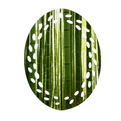 Bamboo Grove 2 Oval Filigree Ornament (2 Side)