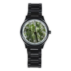 BAMBOO GROVE 1 Stainless Steel Round Watches