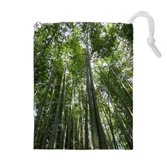 BAMBOO GROVE 1 Drawstring Pouches (Extra Large)
