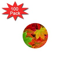AUTUMN LEAVES 1 1  Mini Buttons (100 pack)