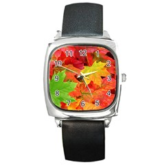AUTUMN LEAVES 1 Square Metal Watches