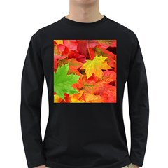 AUTUMN LEAVES 1 Long Sleeve Dark T-Shirts