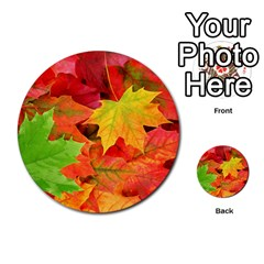 Autumn Leaves 1 Multi Purpose Cards (round)