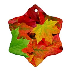 Autumn Leaves 1 Snowflake Ornament (2 Side)