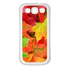 AUTUMN LEAVES 1 Samsung Galaxy S3 Back Case (White)