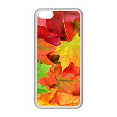 AUTUMN LEAVES 1 Apple iPhone 5C Seamless Case (White)