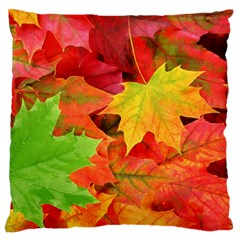 AUTUMN LEAVES 1 Large Flano Cushion Cases (Two Sides)