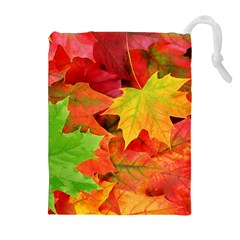 Autumn Leaves 1 Drawstring Pouches (extra Large)