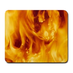 YELLOW FLAMES Large Mousepads