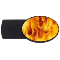YELLOW FLAMES USB Flash Drive Oval (4 GB)