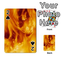 YELLOW FLAMES Playing Cards 54 Designs