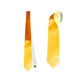 YELLOW FLAMES Neckties (One Side)