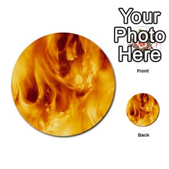 Yellow Flames Multi Purpose Cards (round)