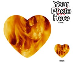 Yellow Flames Multi Purpose Cards (heart)