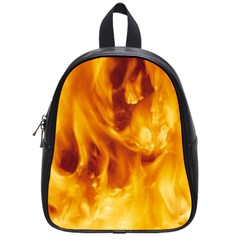YELLOW FLAMES School Bags (Small)