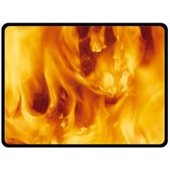Yellow Flames Fleece Blanket (large)
