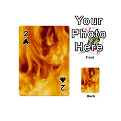 YELLOW FLAMES Playing Cards 54 (Mini)